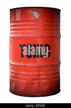 Toxic Waste Barrel - Stock Photo