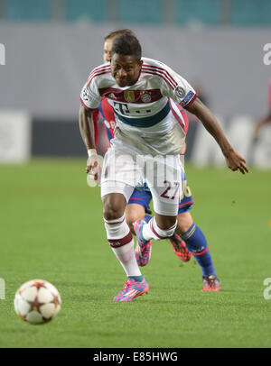 Moscow, Russia. 30th Sep, 2014. Munich's David Alaba in action during the UEFA Champions League group E soccer match - Stock Photo