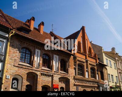 Along Pilies Gatve in Senamiestyje/Old Town, Vilnius, Lithuania - Stock Photo