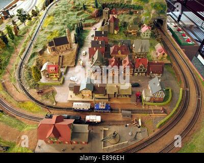 Model railway layout, MusC3A9e du jouet de Colmar, photo 1 - Stock Photo