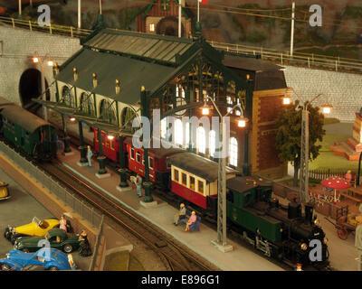 Model railway layout, MusC3A9e du jouet de Colmar, photo 3 - Stock Photo
