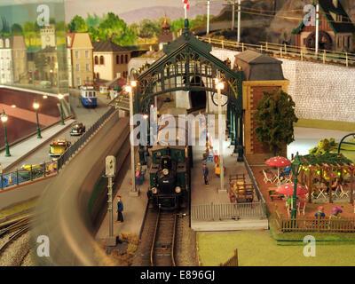 Model railway layout, MusC3A9e du jouet de Colmar, photo 4 - Stock Photo
