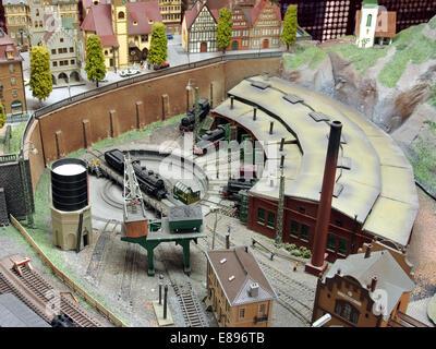 Model railway layout, MusC3A9e du jouet de Colmar, photo 5 - Stock Photo