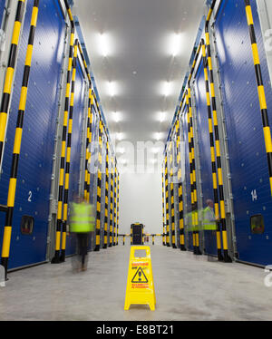 Dolefresh state-of-the-art ripening facilities in the north of the UK. In total it will have 32 ripening rooms - Stock Photo