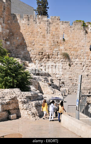 Israel, Jerusalem, The City of David (Ir David) is claimed to be the oldest settled neighborhood of Jerusalem and - Stock Photo