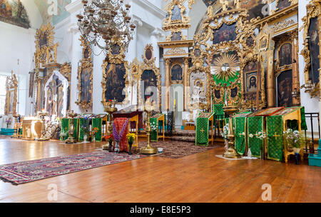 TVER REGION, RUSSIA - JULY 12, 2014: Interior of the Church of the Holy Face in the village Mlevo. Church was founded - Stock Photo