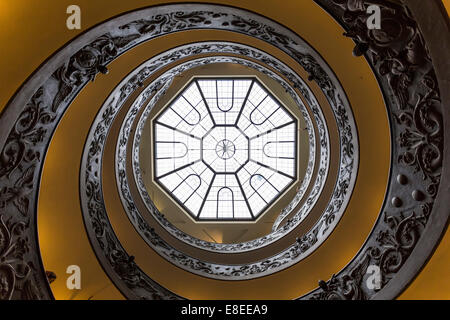 Bramante Staircase a double helix staircase in the Vatican Museum, Vatican City - Stock Photo