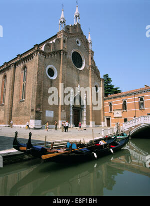 Church of Santa Maria Gloriosa Dei Frari, Venice, Italy - Stock Photo
