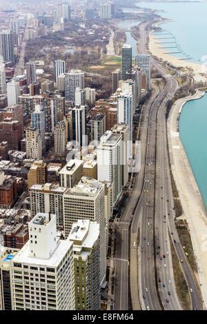 Chicago, Illinois, United States of America Gold Coast Of Chicago - Stock Photo