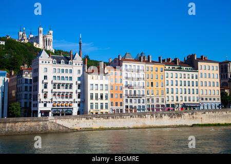 Notre-Dame de Fourvire, Lyon, Rhône-Alpes, France - Stock Photo