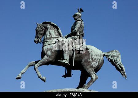 Nicholas I Monument in St Isaac's Square. - Stock Photo