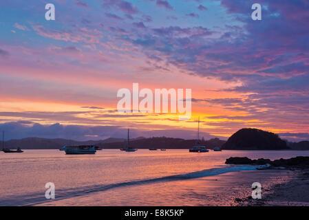 New Zealand, North Island, Paihia, Bay of Islands Sunrise (Large format sizes available) - Stock Photo