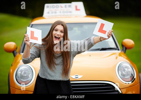 Driving instructor Riddler school of motoring by Robert Ridley Driving instructor Riddler school of motoring by - Stock Photo