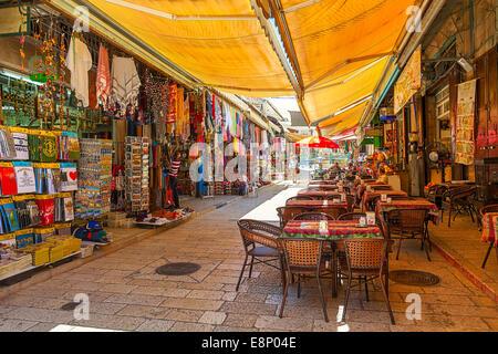 Bazaar in Old City of Jerusalem, Israel. - Stock Photo