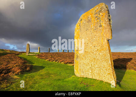 The Ring of Brodgar on Mainland Orkney - Stock Photo