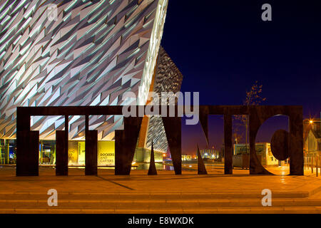 Exterior of the Titanic building housing a museum to BelfastÆs maritime heritage, Belfast. Northern Ireland - Stock Photo