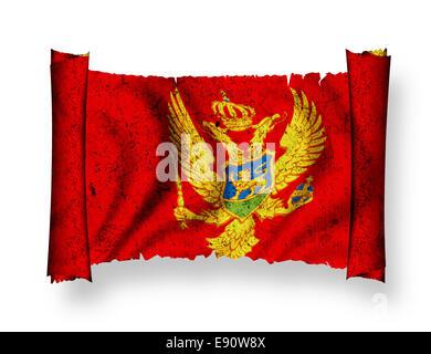 Flag of Montenegro - Stock Photo