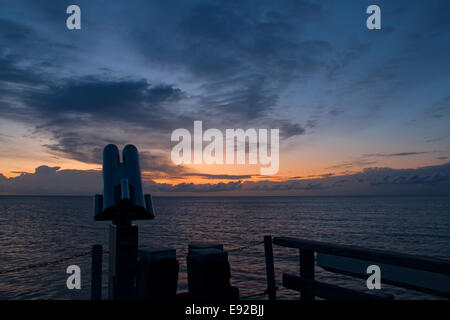 Morning spirit in Dahme, Baltic Sea, Germany - Stock Photo
