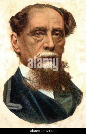 Charles Dickens (1812-1870), English Writer, Portrait - Stock Photo