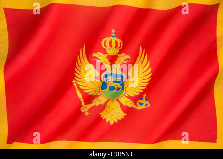The flag of Montenegro - Stock Photo