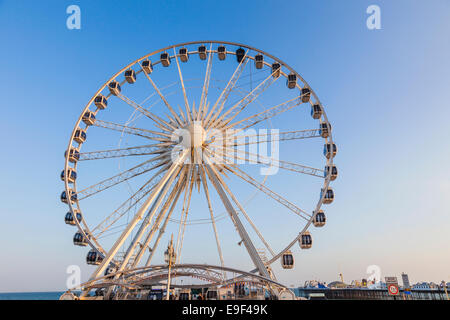 England, East Sussex, Brighton, Brighton Wheel - Stock Photo