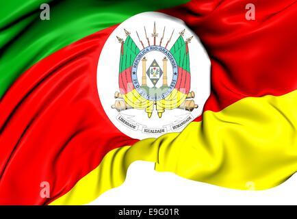 Flag of Rio Grande do Sul - Stock Photo
