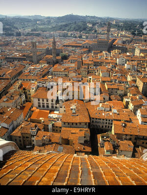 Florence or Firenze (also once called Fiorenza or Florentia) is the capital city of the Italian region of Tuscany. - Stock Photo