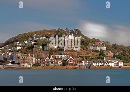Looking across to Kingswear From Dartmouth, Devon, England, Uk - Stock Photo