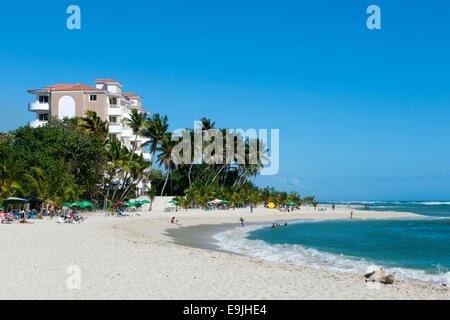 Dominikanische Republik, Osten, Juan Dolio, Guayacanes-Strand - Stock Photo