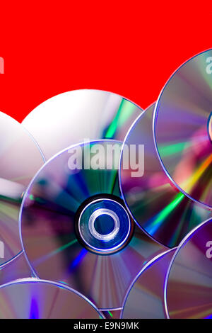 many compact discs - Stock Photo
