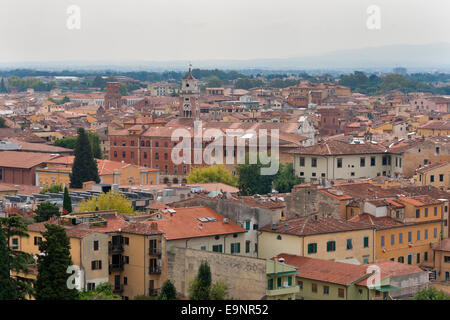 Pisa cityscape. View from Leaning Tower. Tuscany, Italy. - Stock Photo
