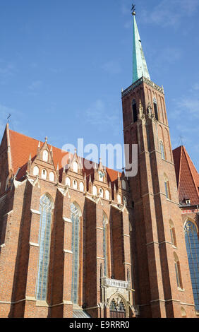 Church of the Holy Cross, St. Bartholomews, Wroclaw, Poland - Stock Photo