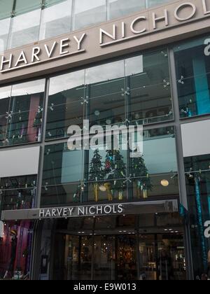 Harvey Nichols shopfront, Manchester - Stock Photo