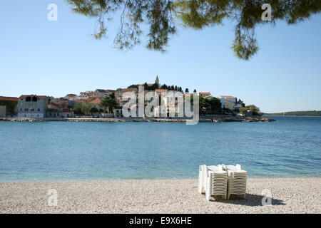 (FILE) - An archive picture, dated 17 October 2013, shows a view of the Adria overlooking the old town of Primosten, - Stock Photo