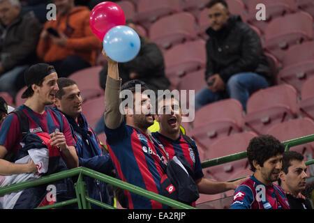 Milan, Italy. 5th Nov, 2014. San Lorenzo fans Football/Soccer : Luigi Berlusconi Trophy match between AC Milan 2 - Stock Photo