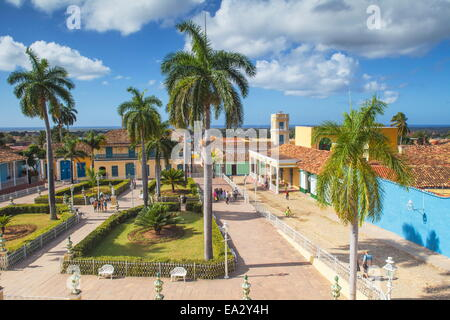 Plaza Mayor, Trinidad, UNESCO World Heritage Site, Sancti Spiritus Province, Cuba, West Indies, Caribbean, Central - Stock Photo