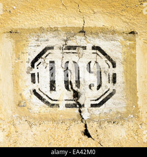 house number 109 - Stock Photo