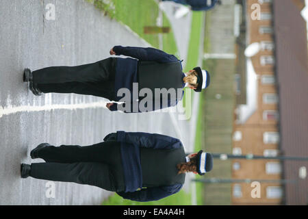 Police Community Support Officers on patrol in Weston Super Mare, Somerset - Stock Photo