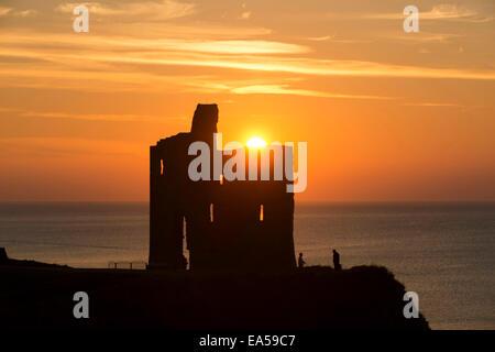 Ballybunion castle, Co. Kerry, Ireland - Stock Photo