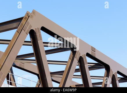 Steel girder bridge over Brick Lane, London - Stock Photo