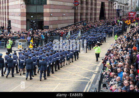 8th November 2014, Lord Mayor's Show, City of London, London, UK.  Members of the British forces taking part in - Stock Photo