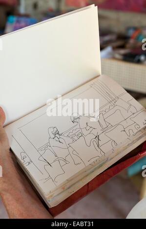 Pen drawing by Andrea Tana - Stock Photo