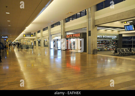 Israel, Ben-Gurion International airport Terminal 3, departure hall. The Duty free shops - Stock Photo