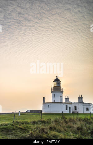 Chanonry Point Lighthouse on the Black Isle in Scotland. - Stock Photo