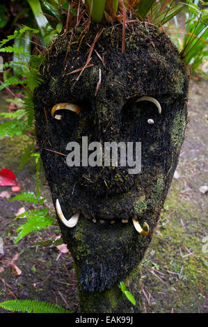 Wooden mask, Highlands, Papua New Guinea - Stock Photo