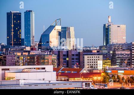 Tallinn, Estonia new city skyline. - Stock Photo