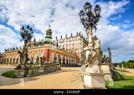 Neues Palais in Potsdam, Germany. - Stock Photo