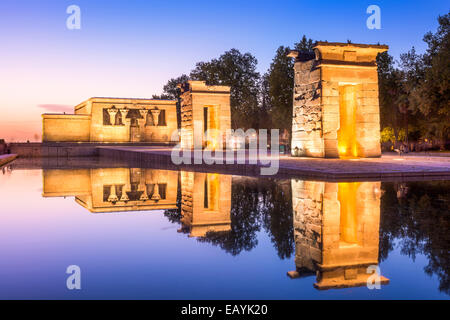 Temple Debod in Madrid, Spain. - Stock Photo