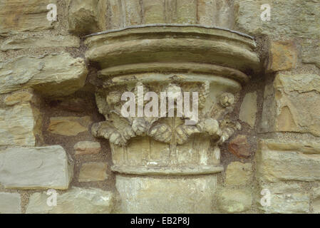 Detail of capital, Finchale Priory, County Durham, UK - Stock Photo