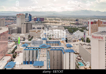 Aerial view of Resorts, Hotels and Casinos in Las Vegas, Nevada. - Stock Photo